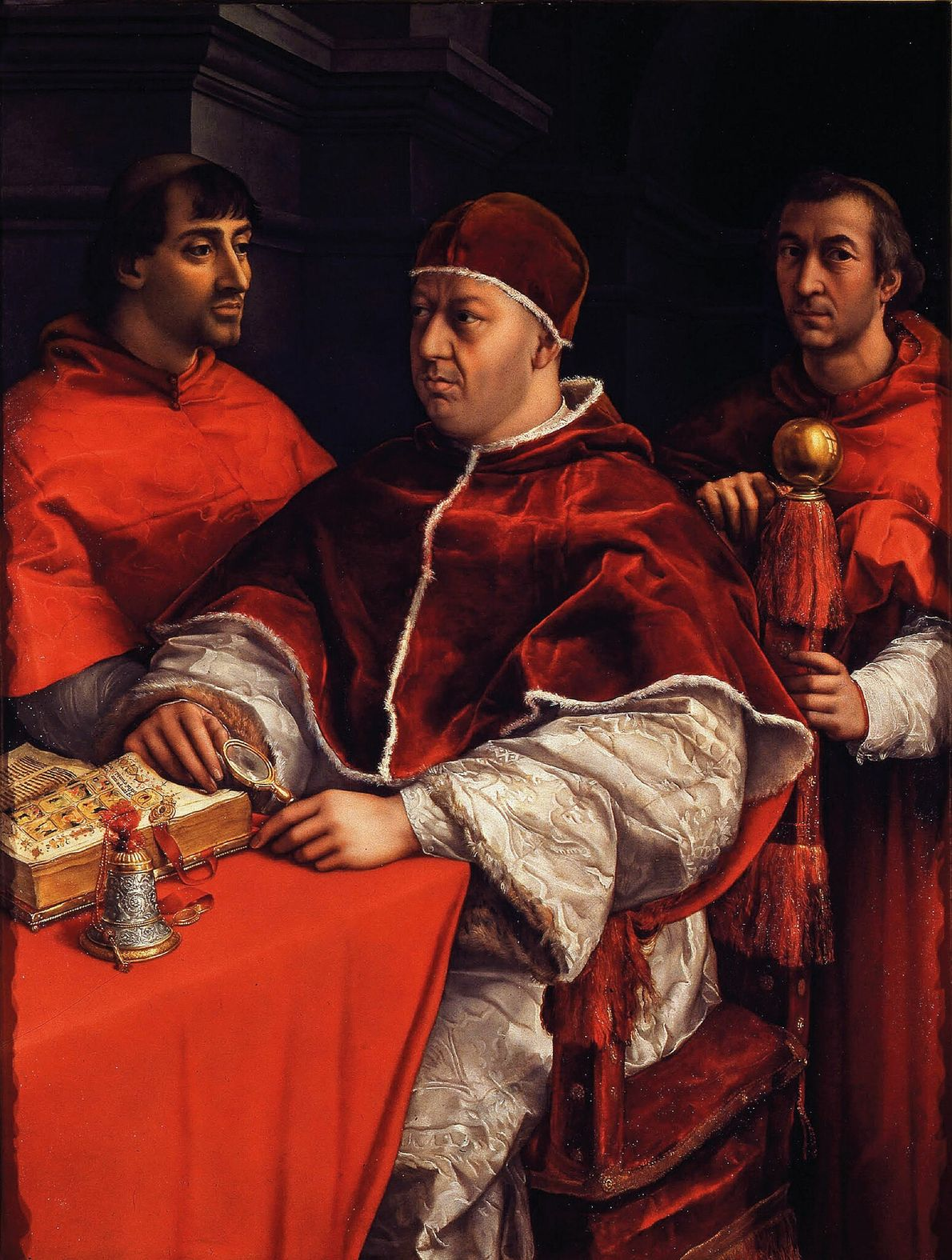 """Painted near the end of his life, Raphael's """"Leo X With Two Cardinals"""" is a highly ..."""
