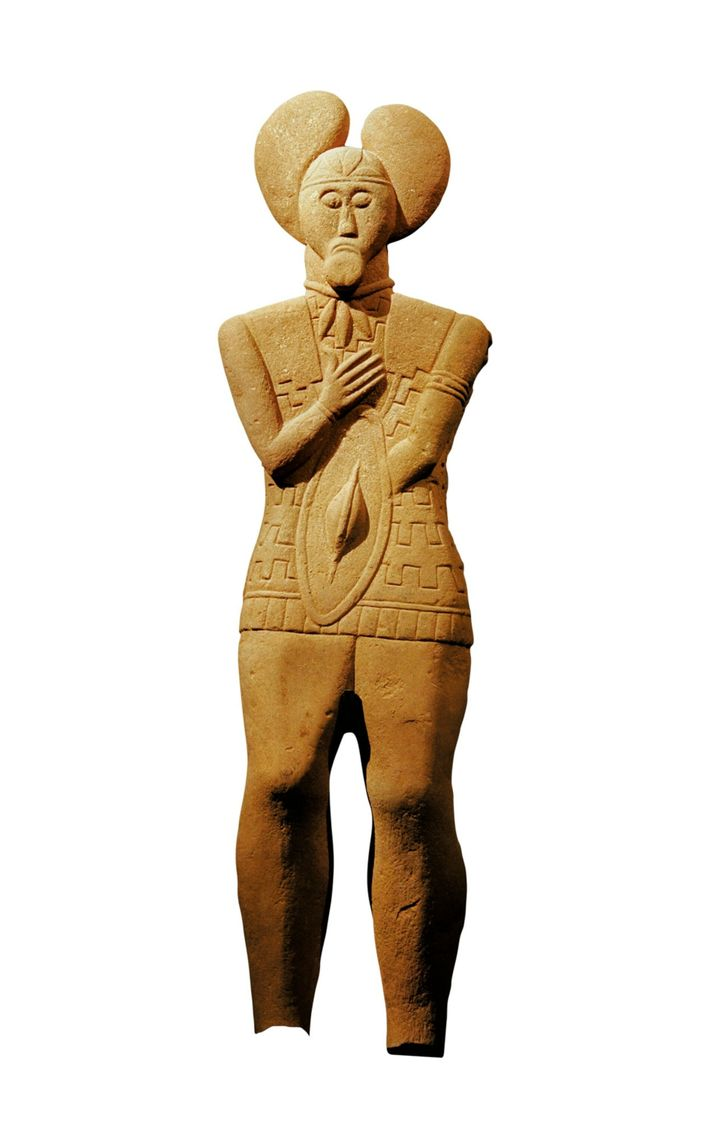 The Prince of Glauberg. Standing over six feet high, this imposing sandstone figure depicts a princely ...