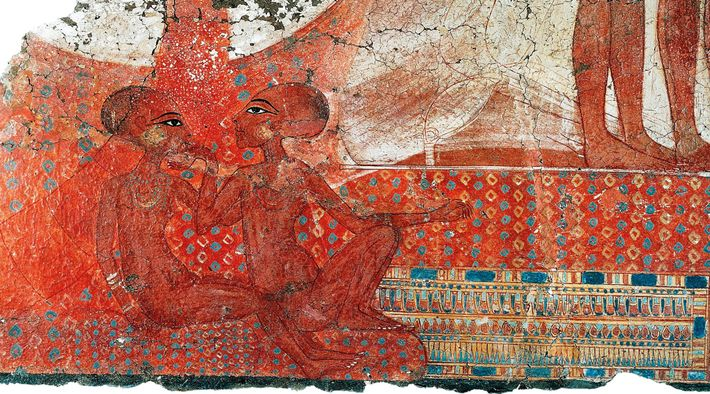 Artifacts from the Amarna palace reveal marked                    contrast to the stiffness of traditional royal                    portraits. Two ...