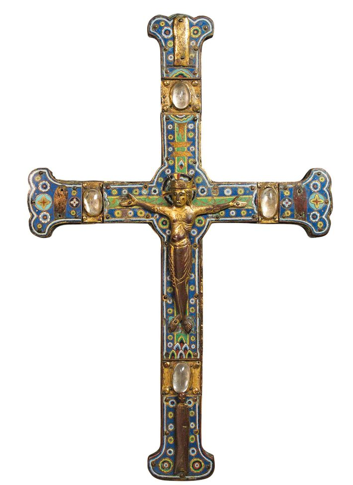 13th-century French processional cross.