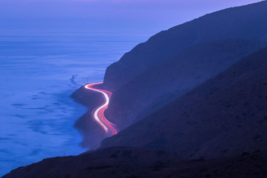 """""""Sometimes you need to get off the road to enjoy the beauty of the Pacific Coast ..."""