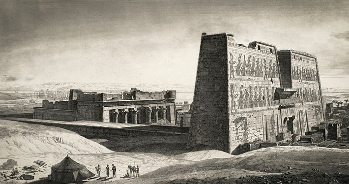 The drawings made by the French scientific expedition captured how the treasures of ancient Egypt appeared ...