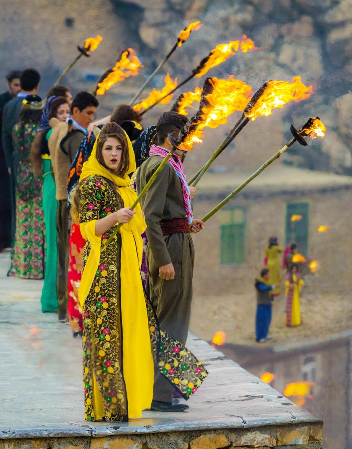 'Newroz' is celebrated among the 30 million-strong Kurdish communities across Iraq, Turkey and Syria, as well ...