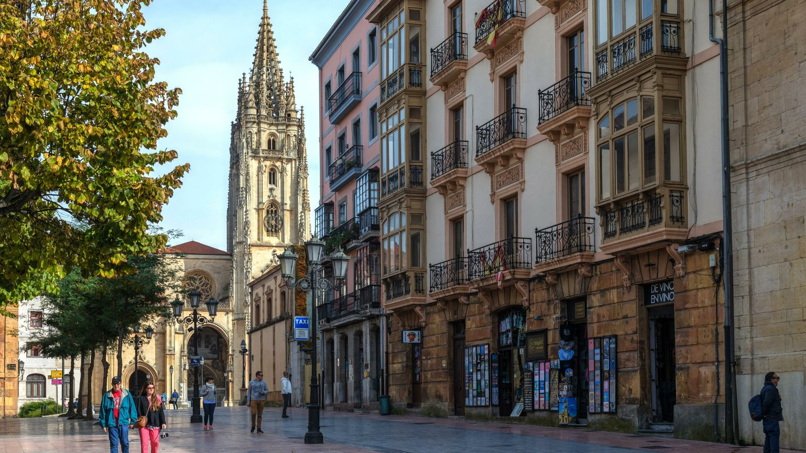 The grand cathedral dominates the old town of Oviedo, one of Spain's most beguiling regional capitals.