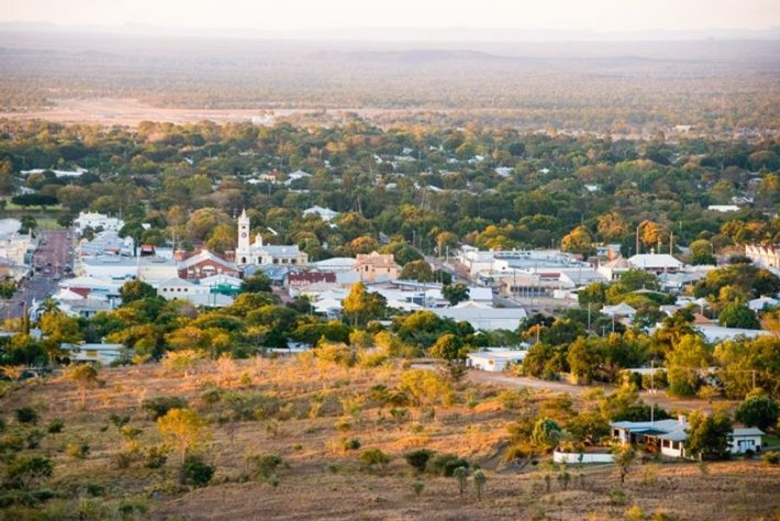 View from Tower Hill Lookout of Charters Towers. Image: Getty