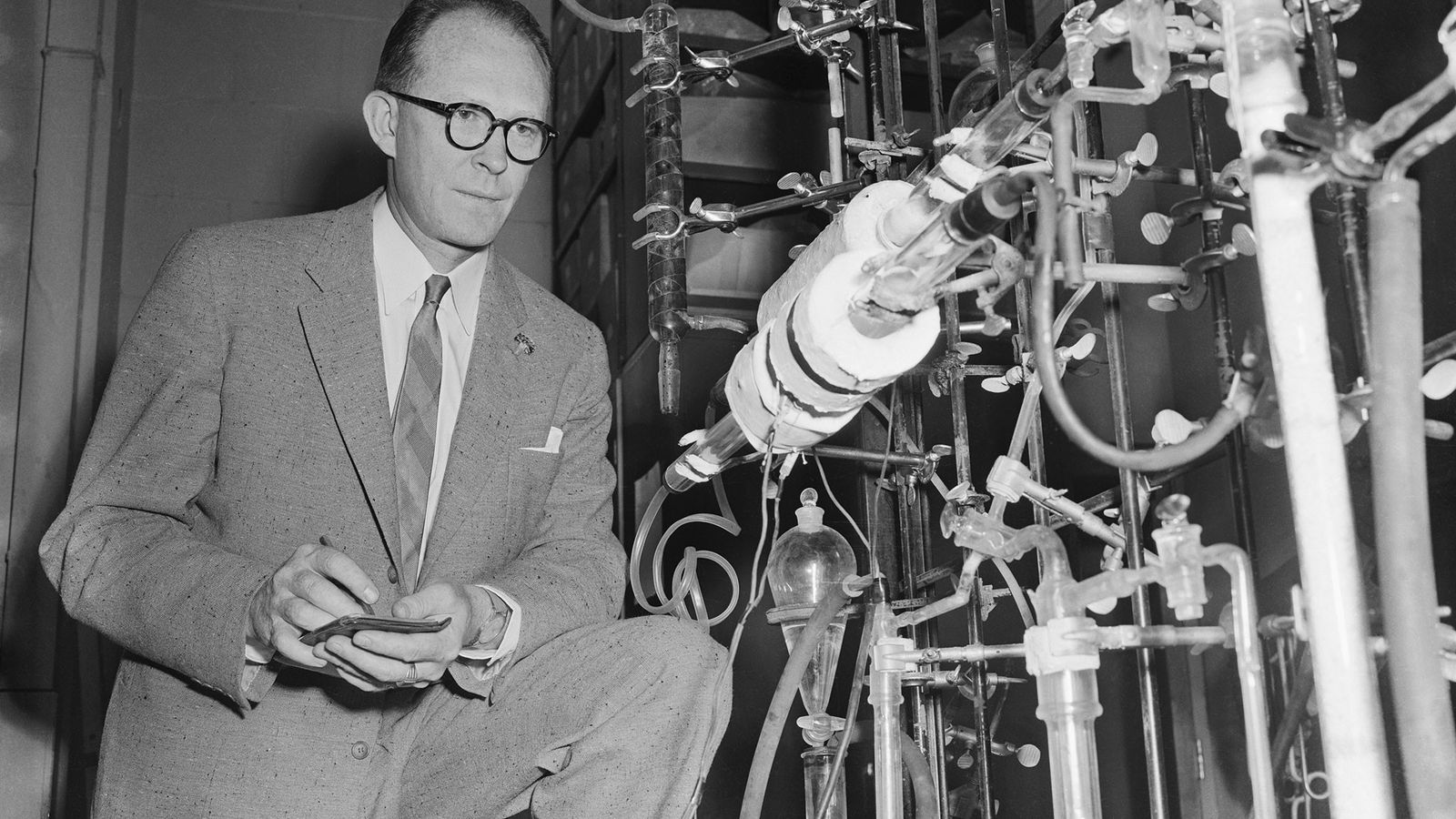 Professor Willard Libby, a chemist at the University of Chicago, first proposed the idea of radiocarbon ...