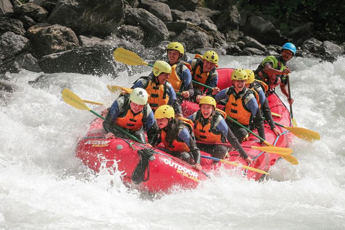 The River Lütschine offers some of the best whitewater rafting in the Swiss Alps, as does ...
