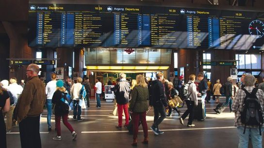 Main hall, Oslo Central Station, Norway. Image: Alamy
