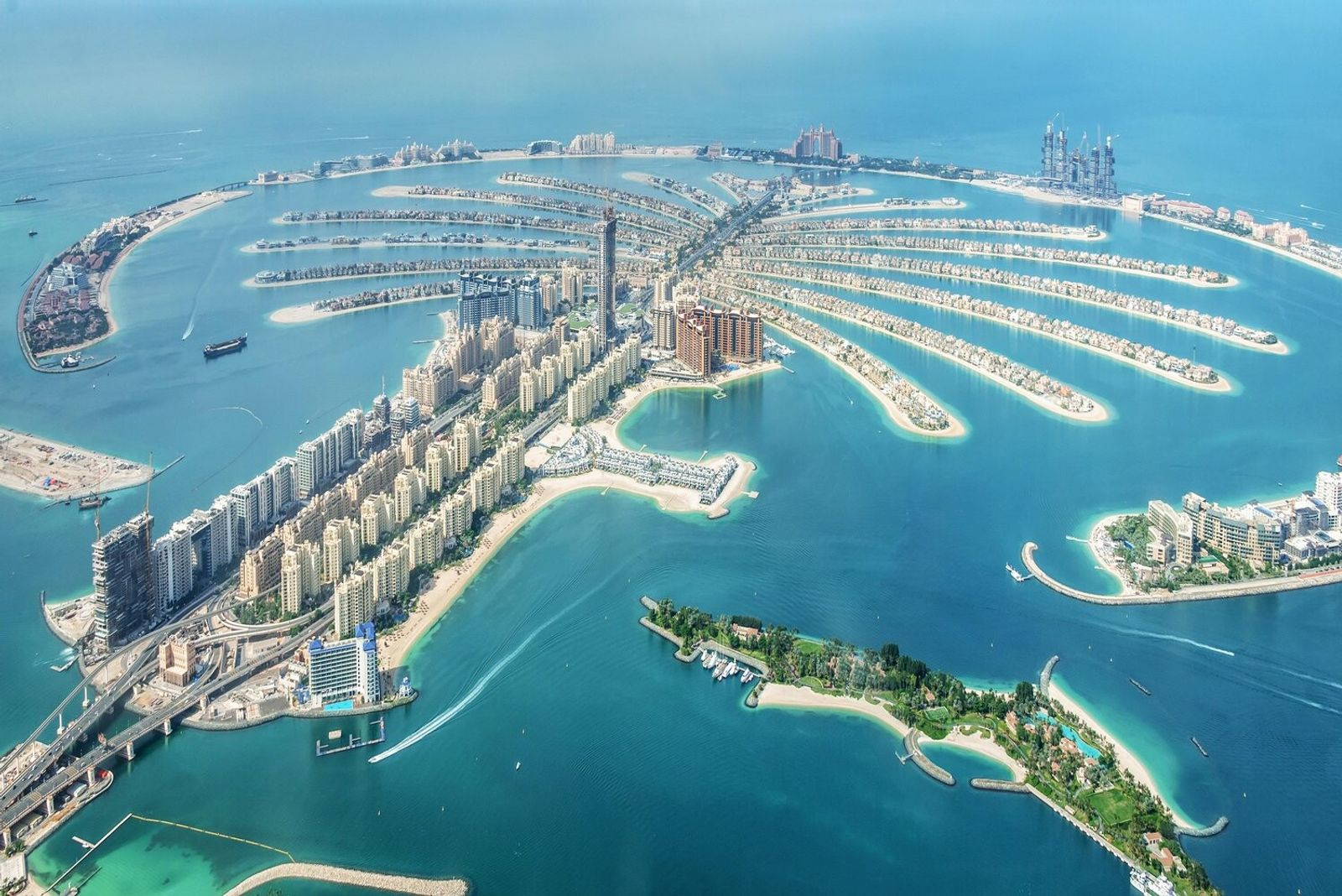Dubai Palm Jumeirah island, one of the so-called 'Palm Islands', three reclamation developments in the Persian ...