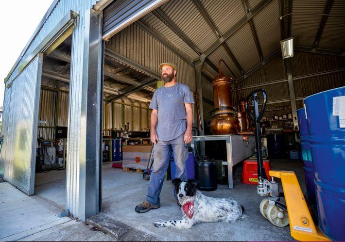 Gavin Hughes owns North of Eden gin distillery, producing award-winning artisan bottles.