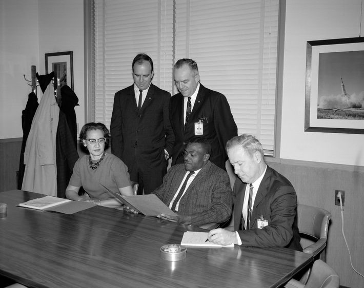 Katherine Johnson, pictured here in 1965, was a member of a NASA advisory committee on affirmative ...