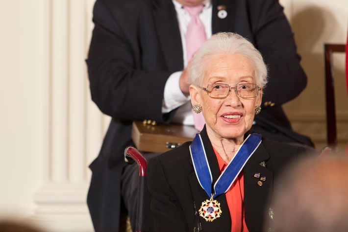 Katherine Johnson was awarded the Presidential Medal of Freedom by President Barack Obama at the White ...
