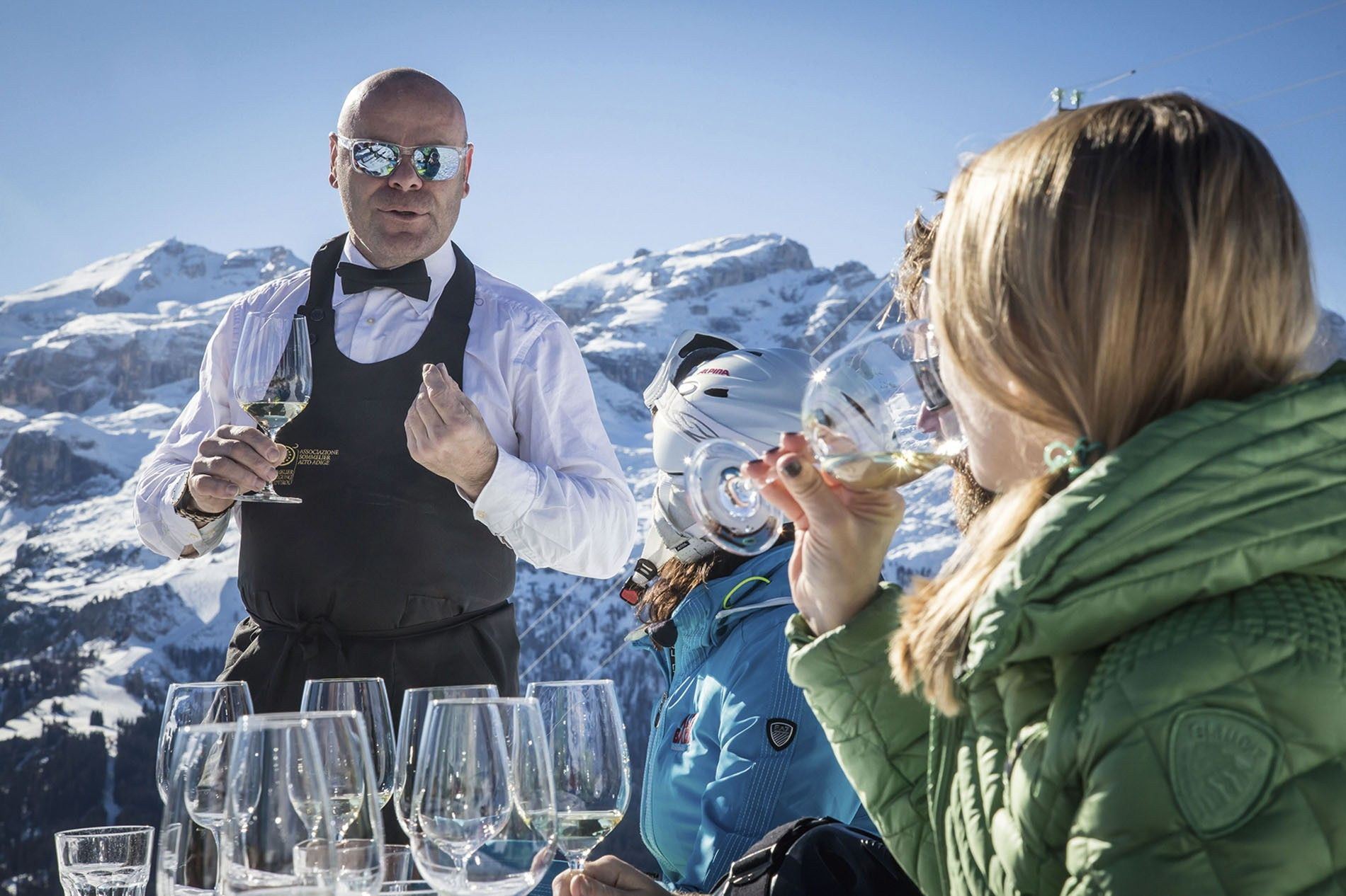Sommelier on the slopes.
