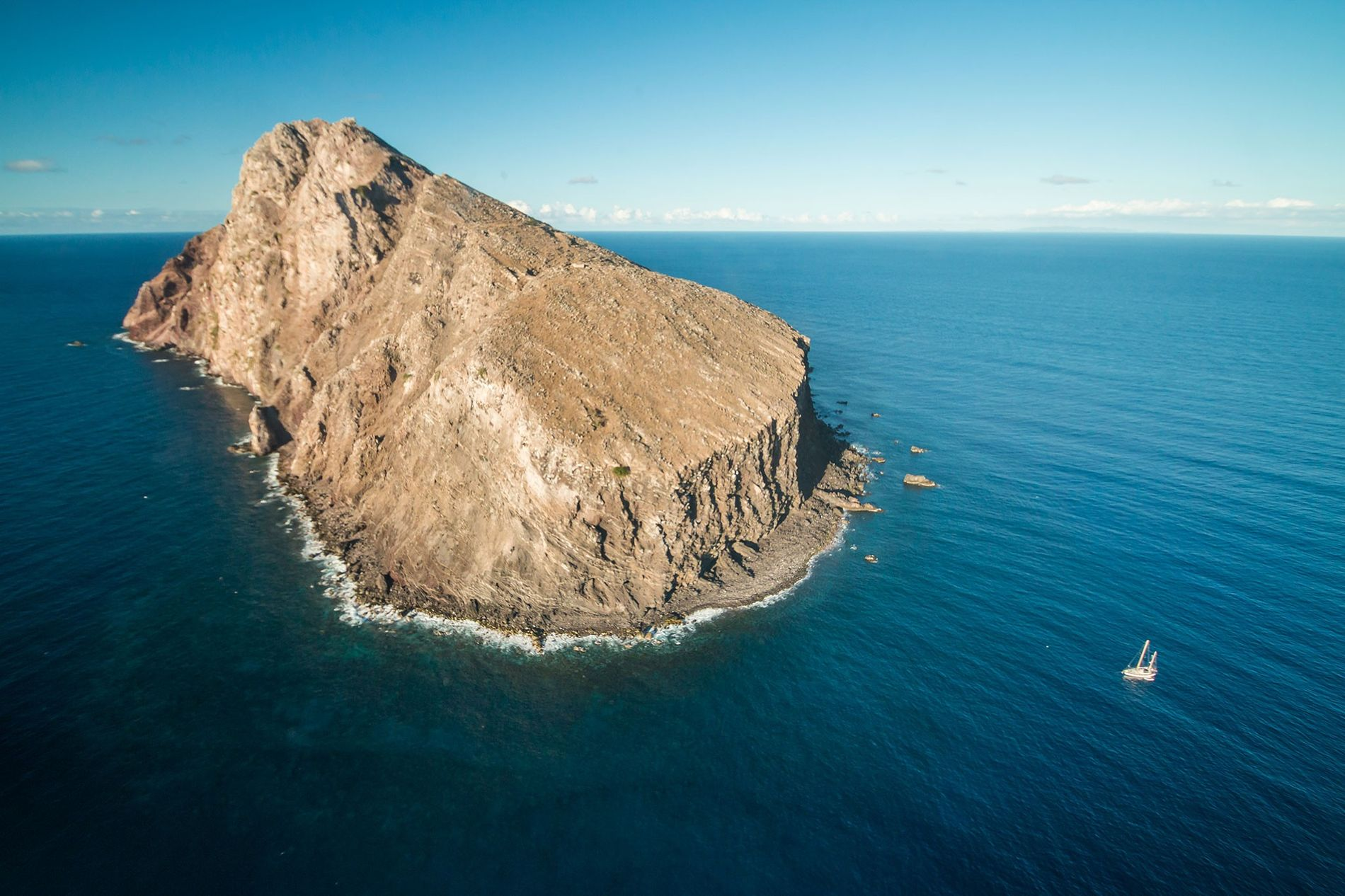 The island of Redonda, once thought doomed by ravenous goats and rats.