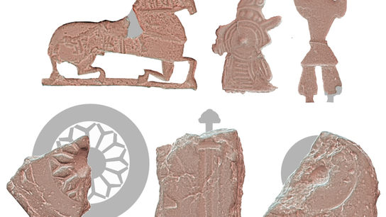 Figurine motifs from Ribe, Denmark reveal a variety of designs were manufactured at the site.
