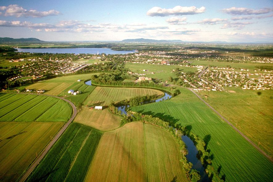 A river runs through Richelieu River Valley just south of Montreal.