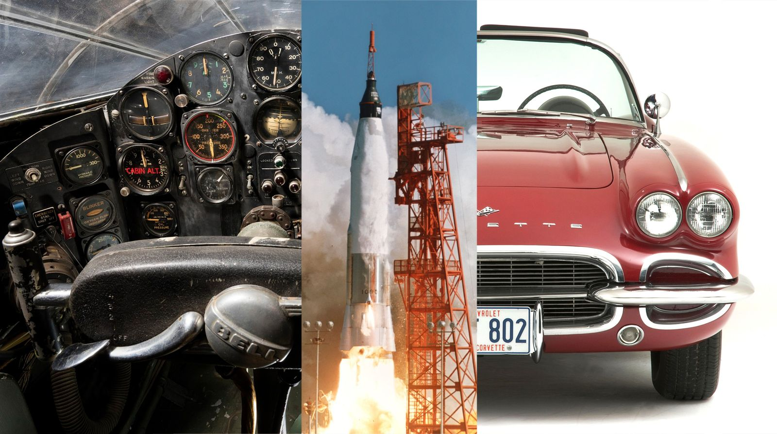 Space age stuff for a space-age lifestyle: from experimental aircraft to rockets, to cars, these objects ...