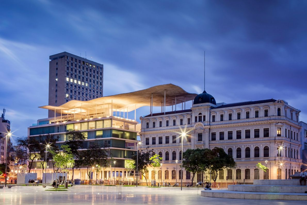 At the Museu de Arte do Rio (MAR), the architects at Bernardes + Jacobsen linked a ...