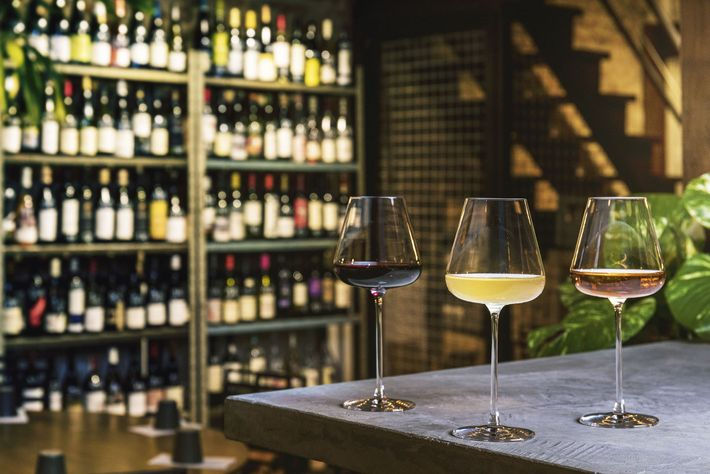 Natural wines at Cru Natural Wine Bar