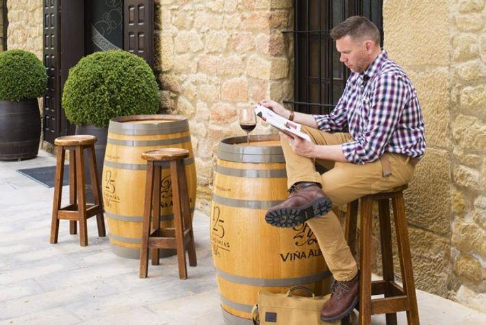 The tasting room of La Rioja Alta.