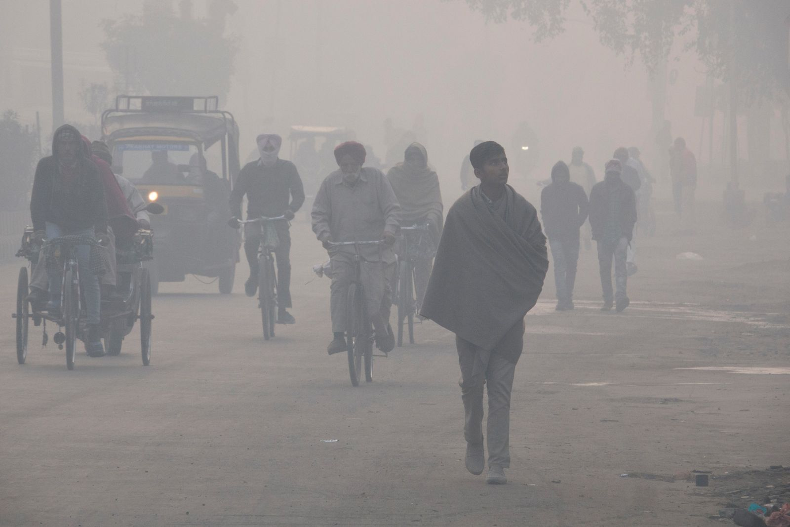 Hazardous levels of pollution in Amritsar, India. One of the five 'Earthshots' in the prize is 'clean ...
