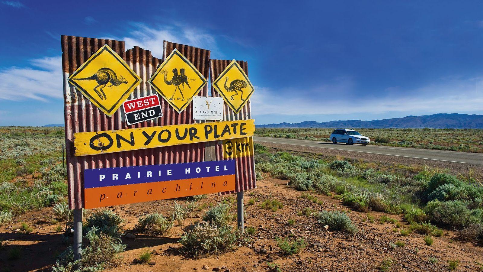 A road sign in Australia