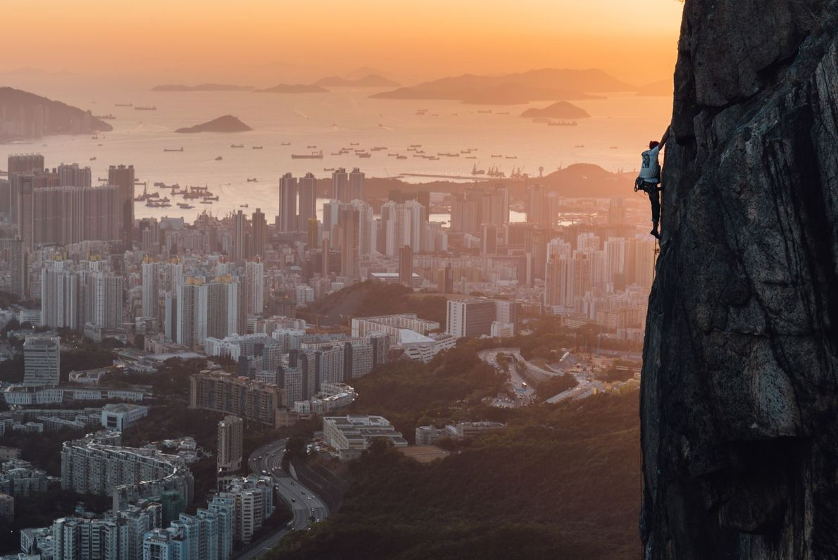 """""""Rock climbing places around the world: Some are in the forest or in remote mountains. Hong ..."""