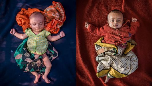 See the refugee babies born with nowhere to call home