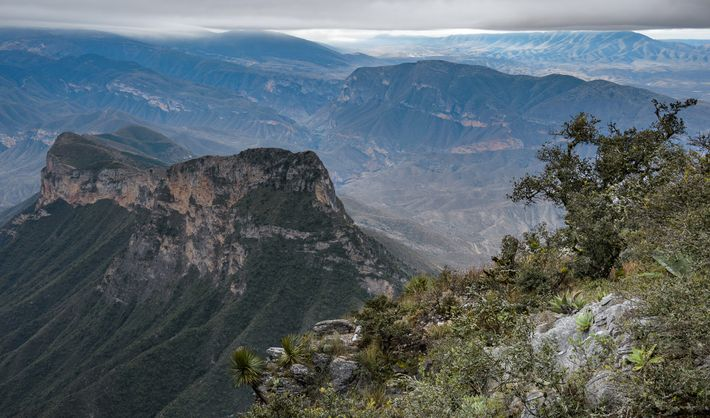 Breathtaking views spread below an overlook in Sierra Gorda.