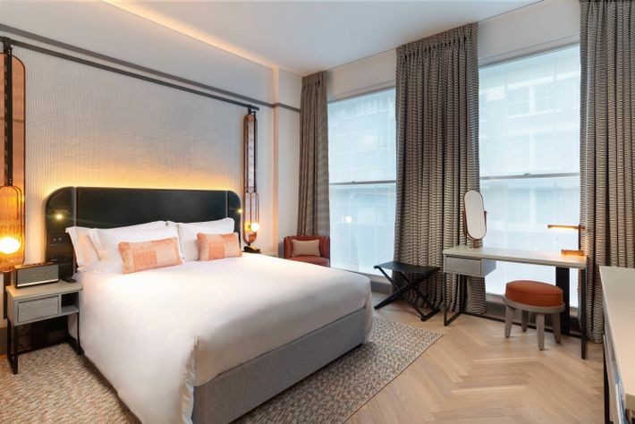 Hart Shoreditch is part of Hilton's Curio Collection, and rooms are decked out in calming cream-and-rose-gold ...