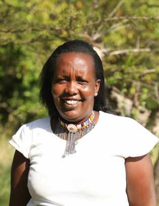 Rose Sairowua, a beadworker at the Maa Trust in Kenya.