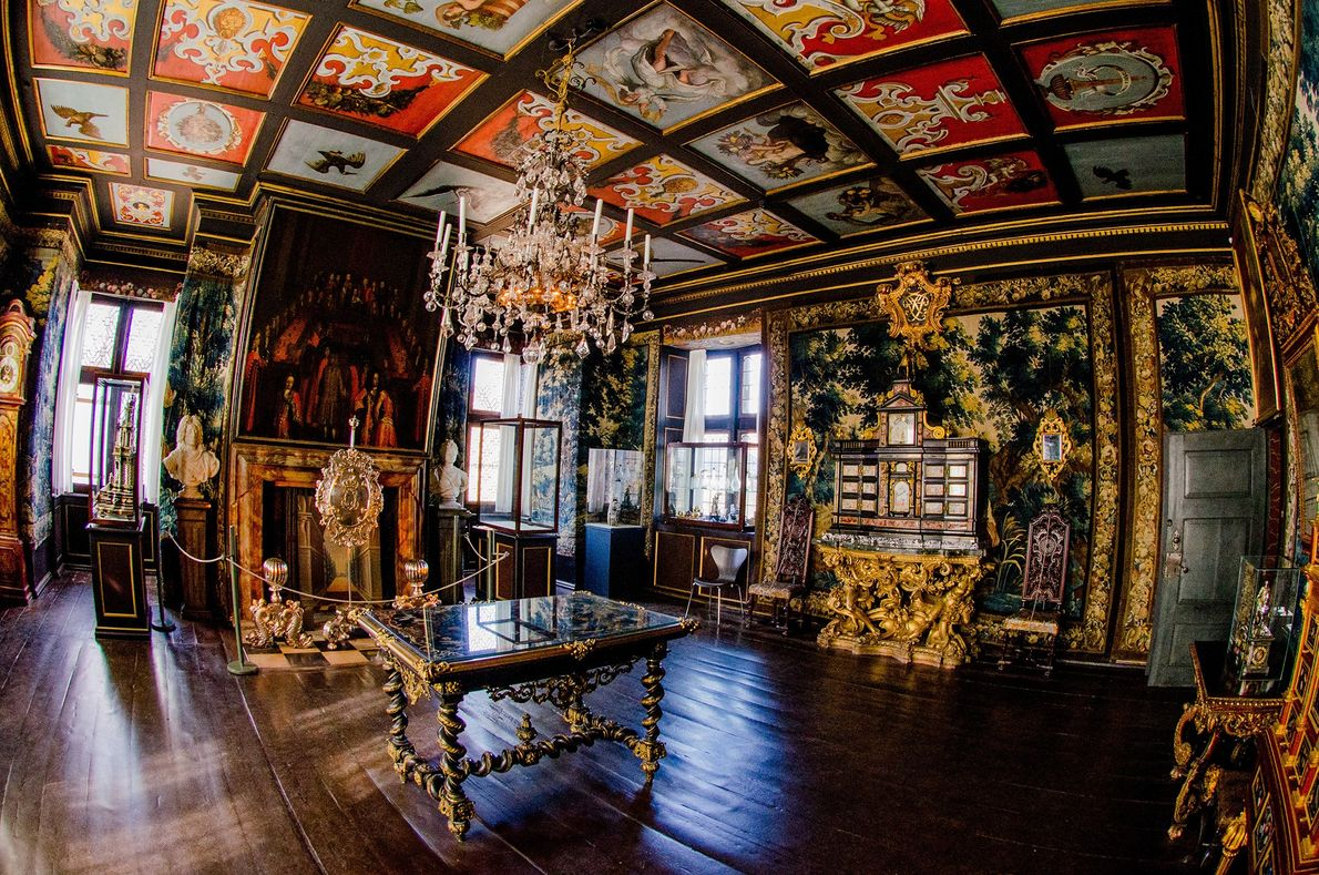 Built as a country summer house in 1606 by Christian IV, Rosenborg Castle has an interior ...