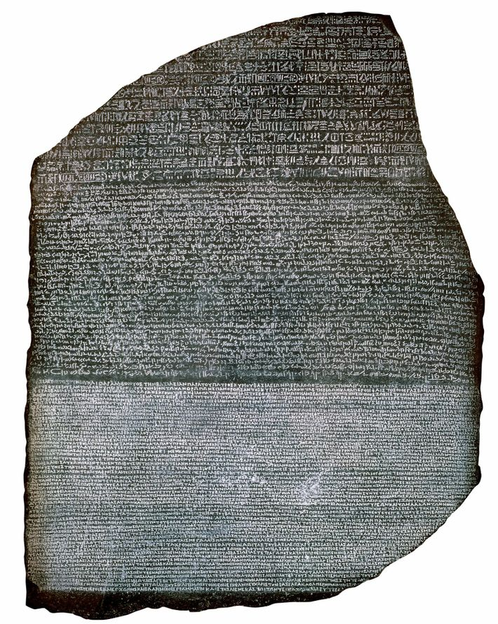 During the expedition, the Rosetta Stone was discovered by the French but later seized by the ...