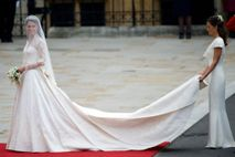 Though Kate Middleton wore a white dress on her wedding day in 2011, the royal family ...