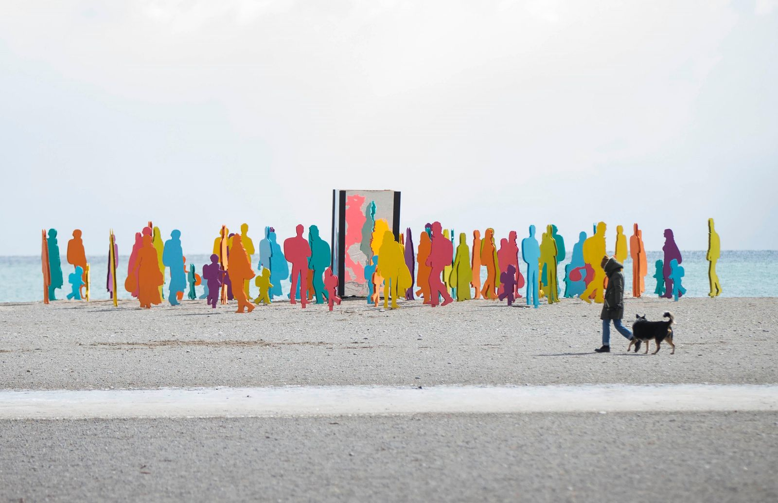 'Cavalcade', an art installation on Woodbine Beach, Ontario, Canada in February 2019. The designers John Nguyen, Victor ...