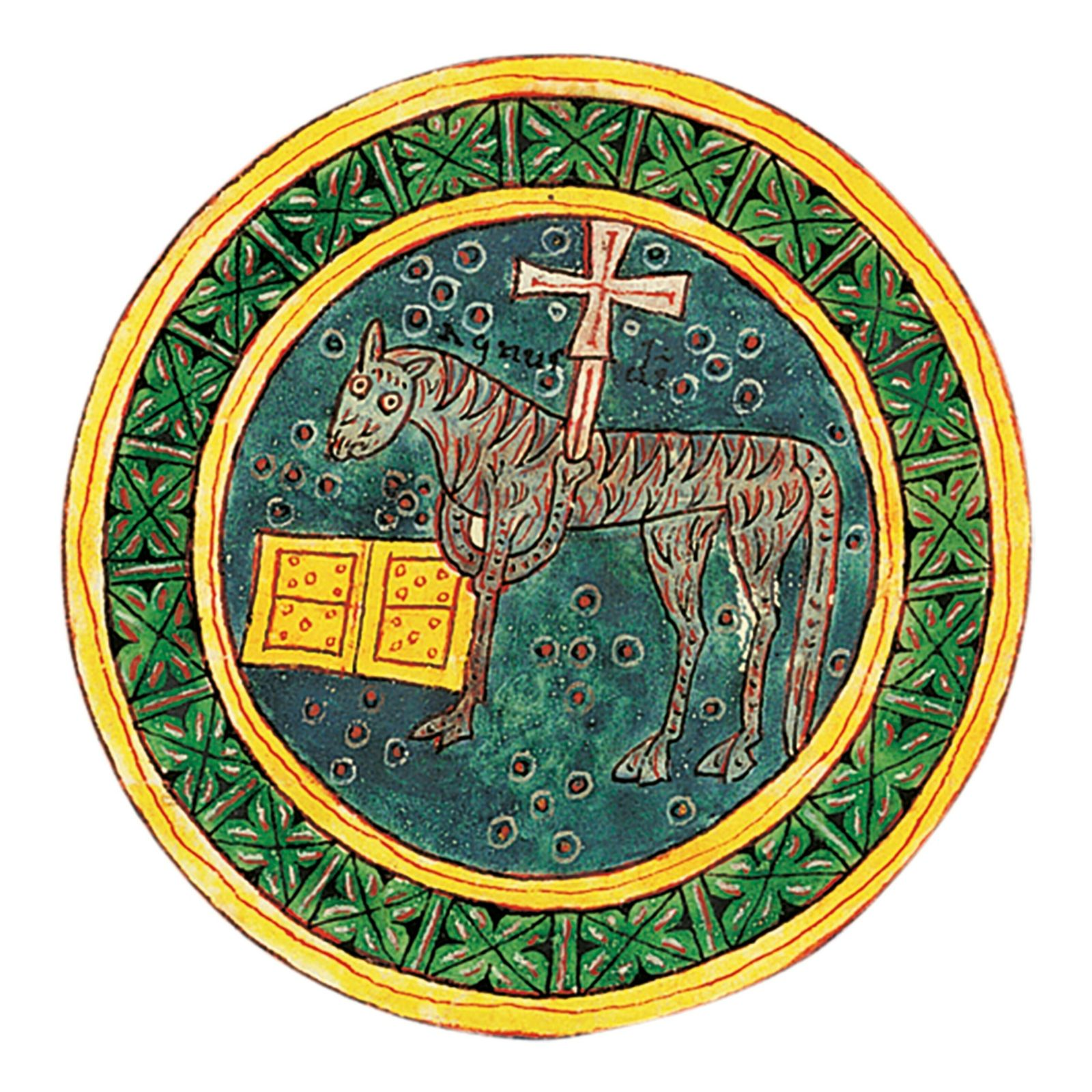 The lamb receives the seal