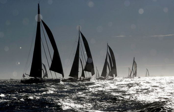 Participants begin and end the Vendée Globe from Les Sables-d'Olonne, France. Along the way, they face ...