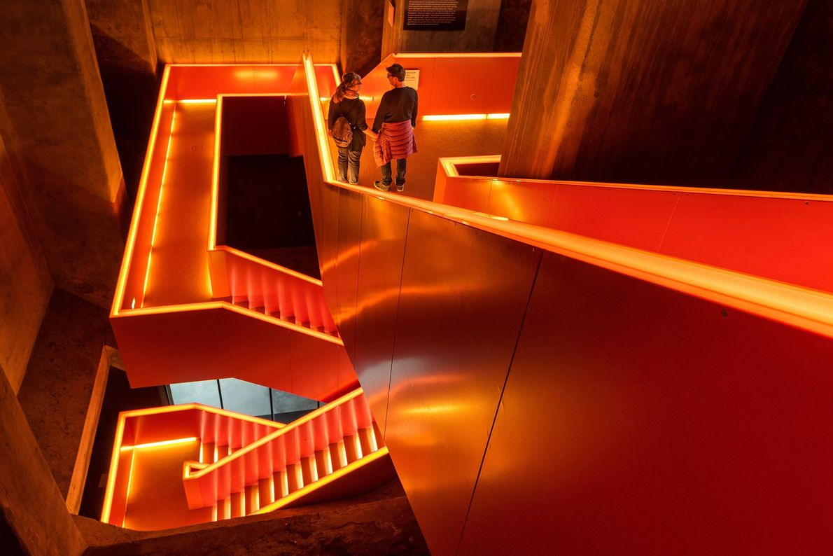 Staircases and escalators mimicking coal conveyors help visitors navigate the Ruhr Museum, which explores the history ...