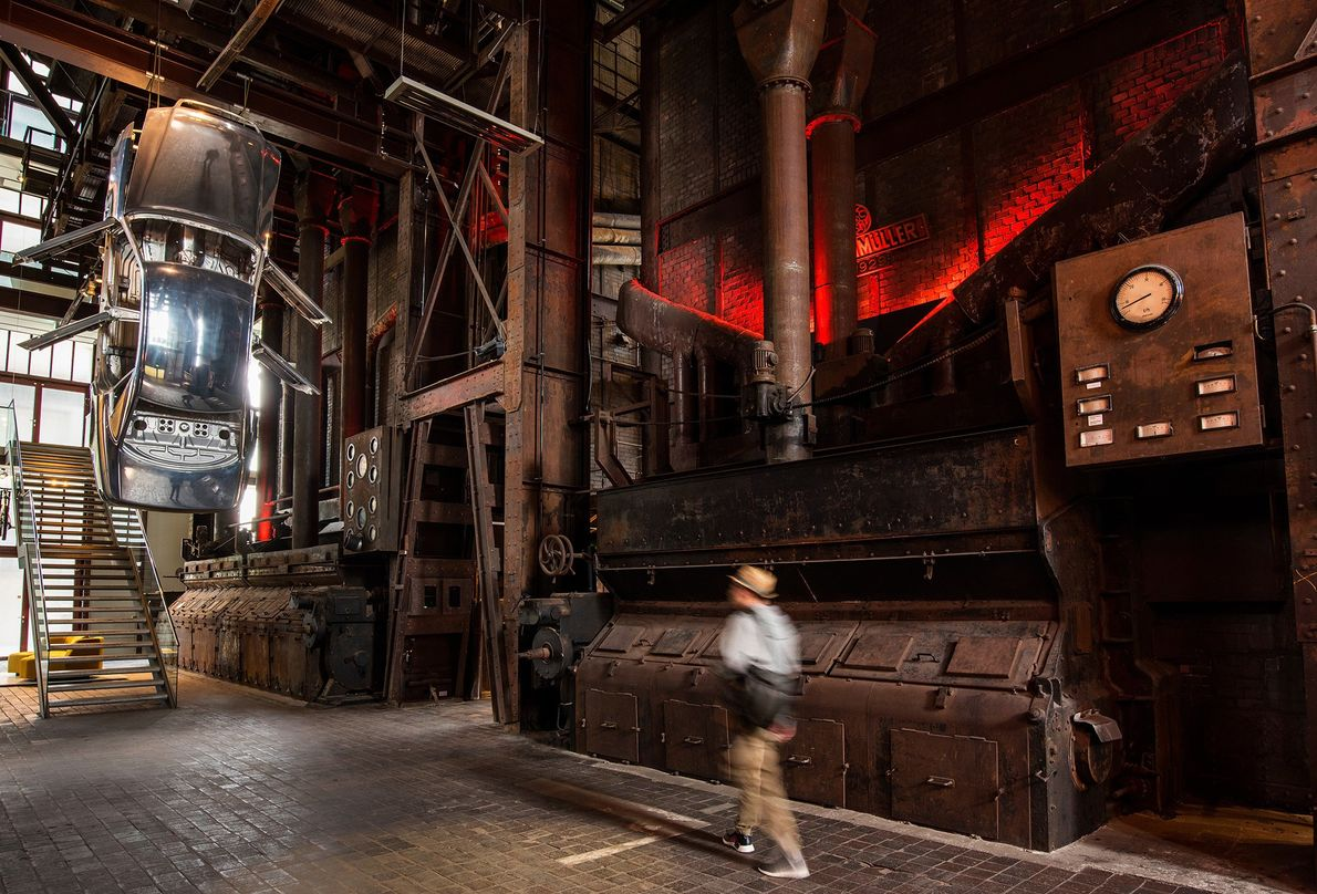 The Red Dot Design Museum, located in the Zollverein Coal Mine Industrial Complex, showcases award-winning product ...