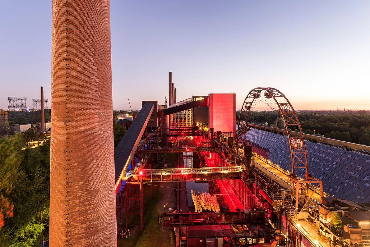 One of hundreds of coal mines that once dotted Germany's Ruhr region, the Zollverein Coal Mine ...