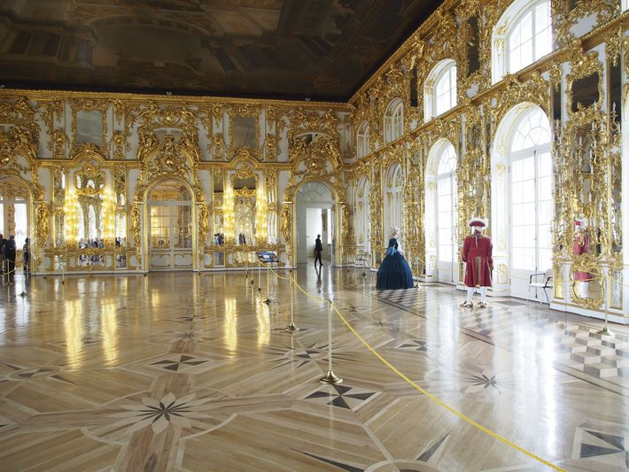The Great Hall of the Catherine Palace at Pushkin, near St Petersburg,