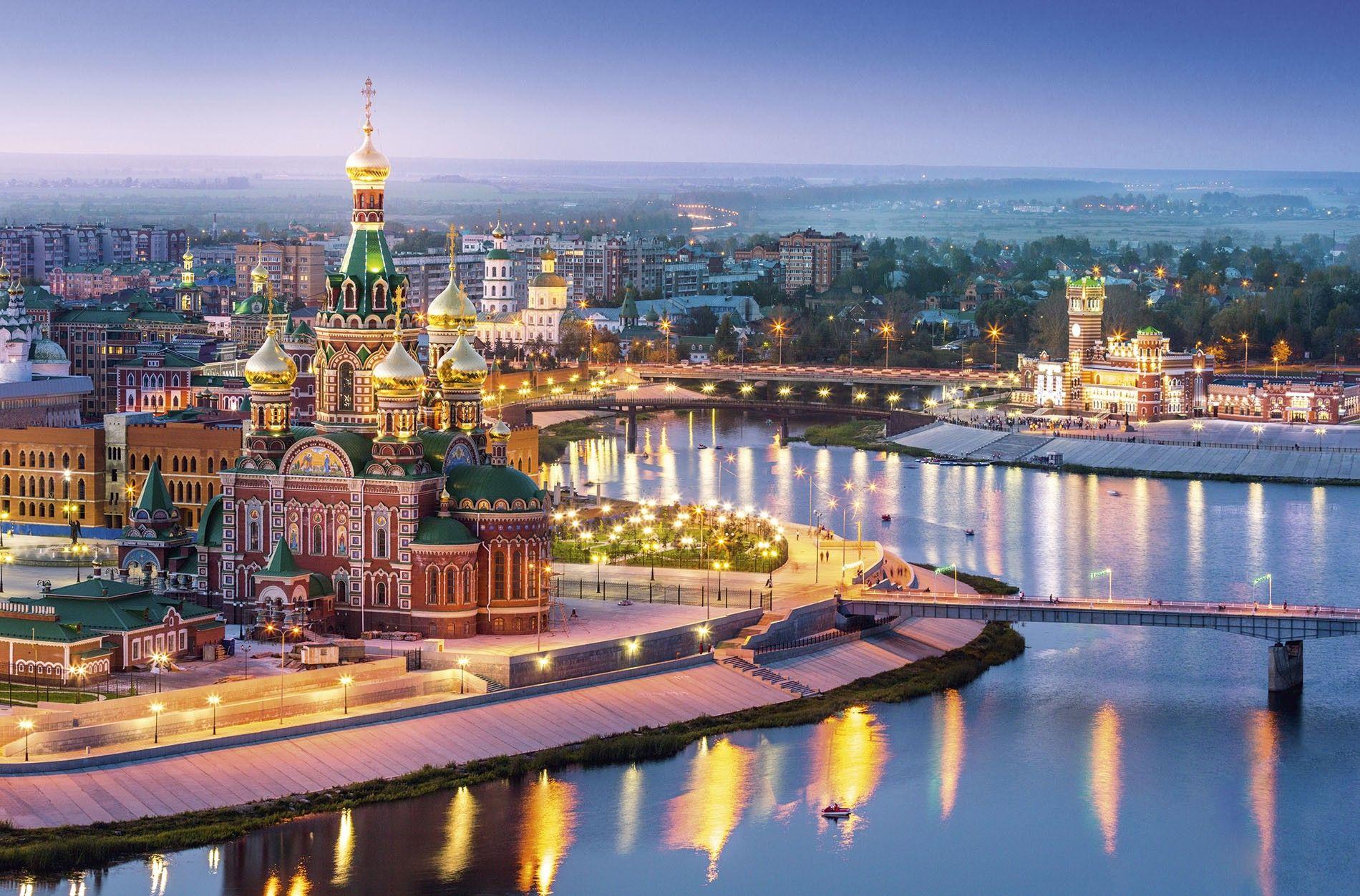 The downtown area of Yoshkar-Ola in the Volga region.