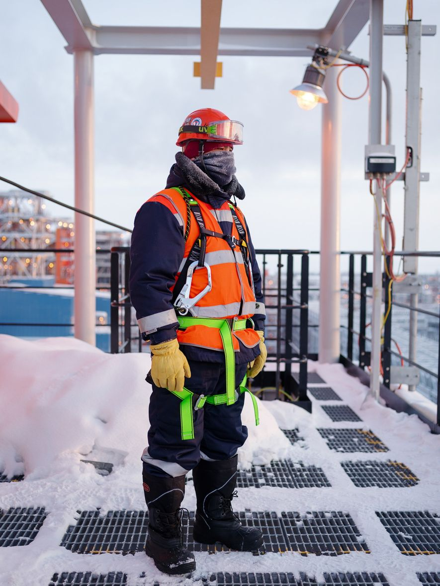 Nurlan is one of many workers at the Yamal LNG plant come who from Kazakhstan, which ...
