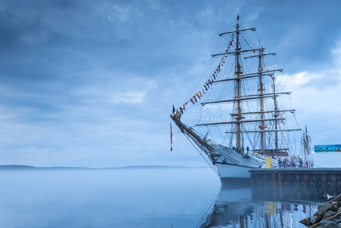 Summer festivals sometimes bring tall ships and other historic sailing vessels to Havre Saint-Pierre and other ...