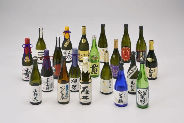 A range of Sake from Setouchi