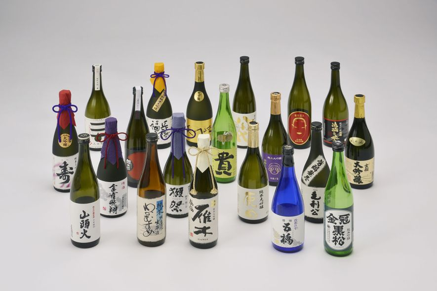 A range of Sake from Setouchi