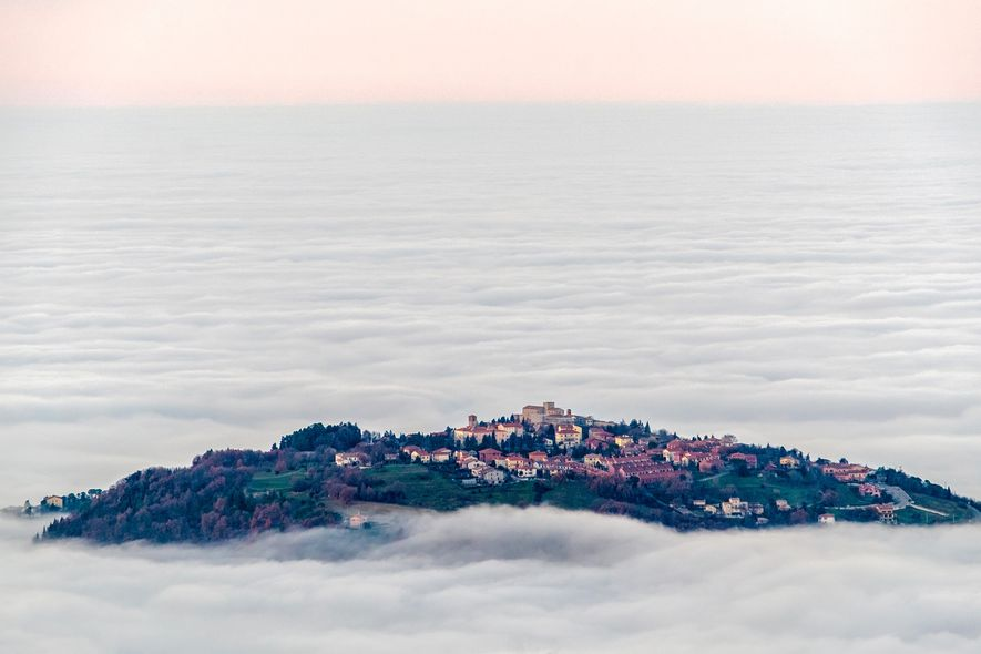 The historic old city of San Marino maintains it's medieval charm.