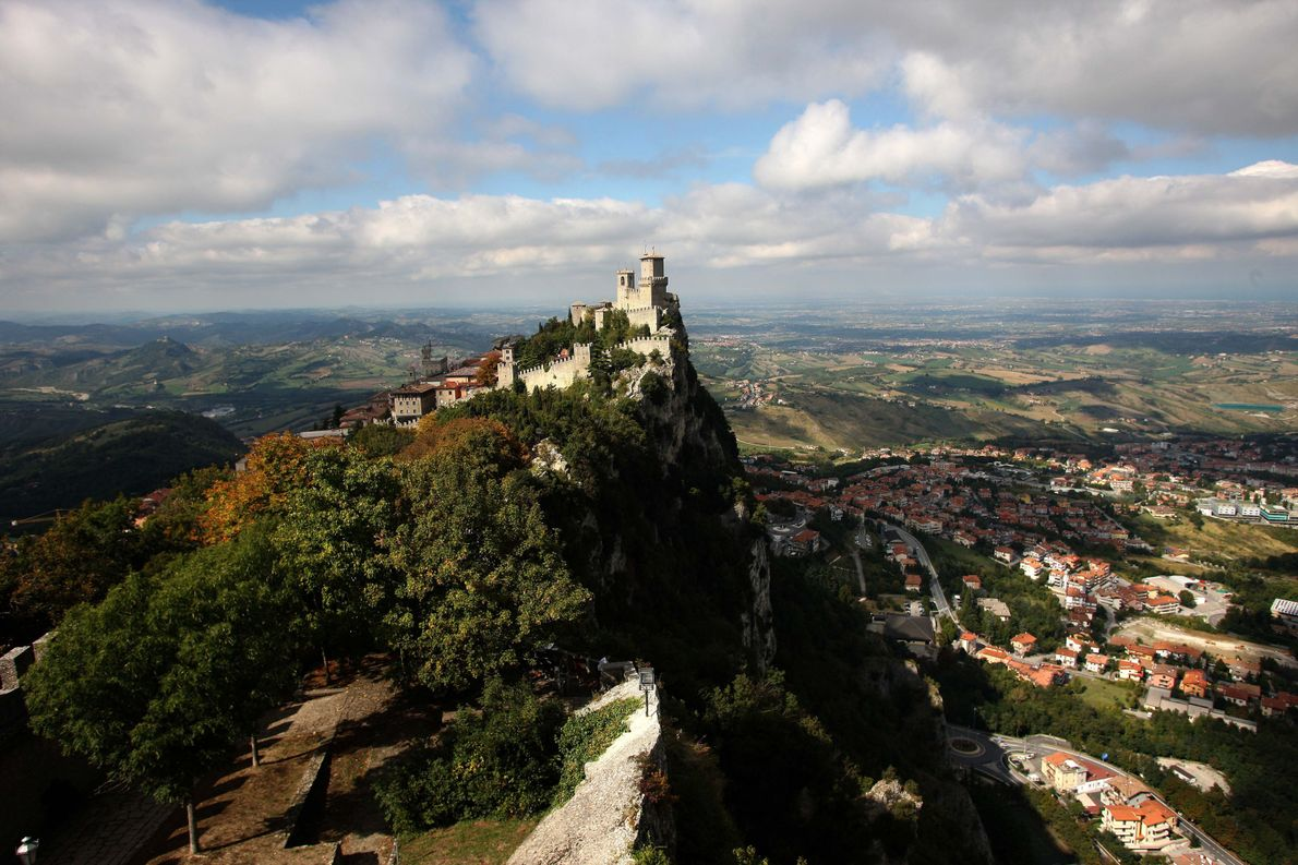 SAN MARINO, SAN MARINO The Guaita fortress is the oldest of the three towers constructed on Monte …