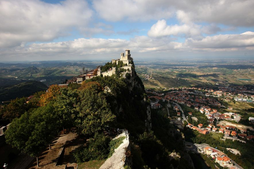 SAN MARINO, SAN MARINOThe Guaita fortress is the oldest of the three towers constructed on Monte …