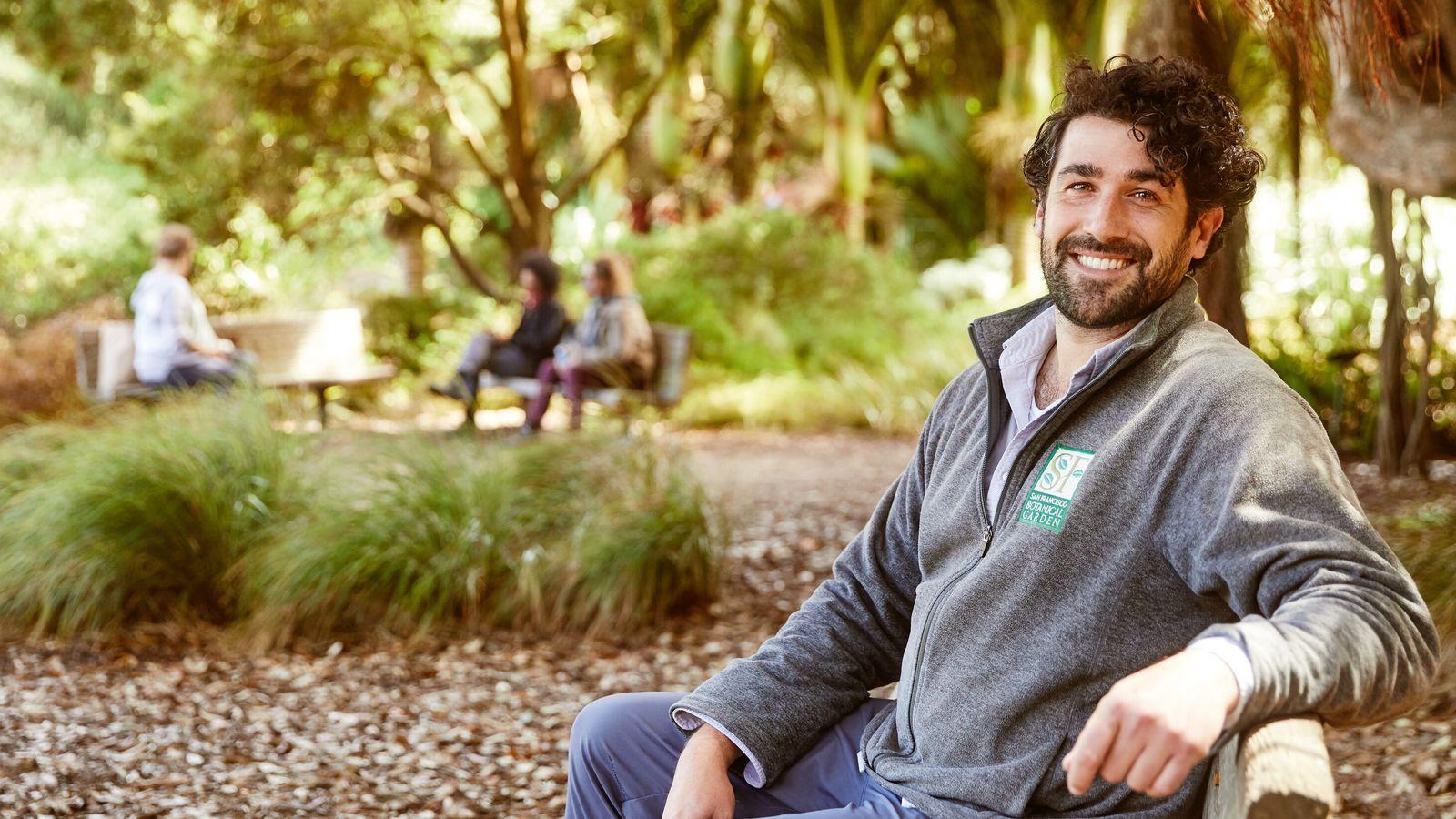 Ryan Guillou of the San Francisco Botanical Garden.